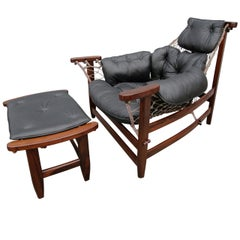 Brazilian Jangada Chair and Ottoman by Jean Gillon