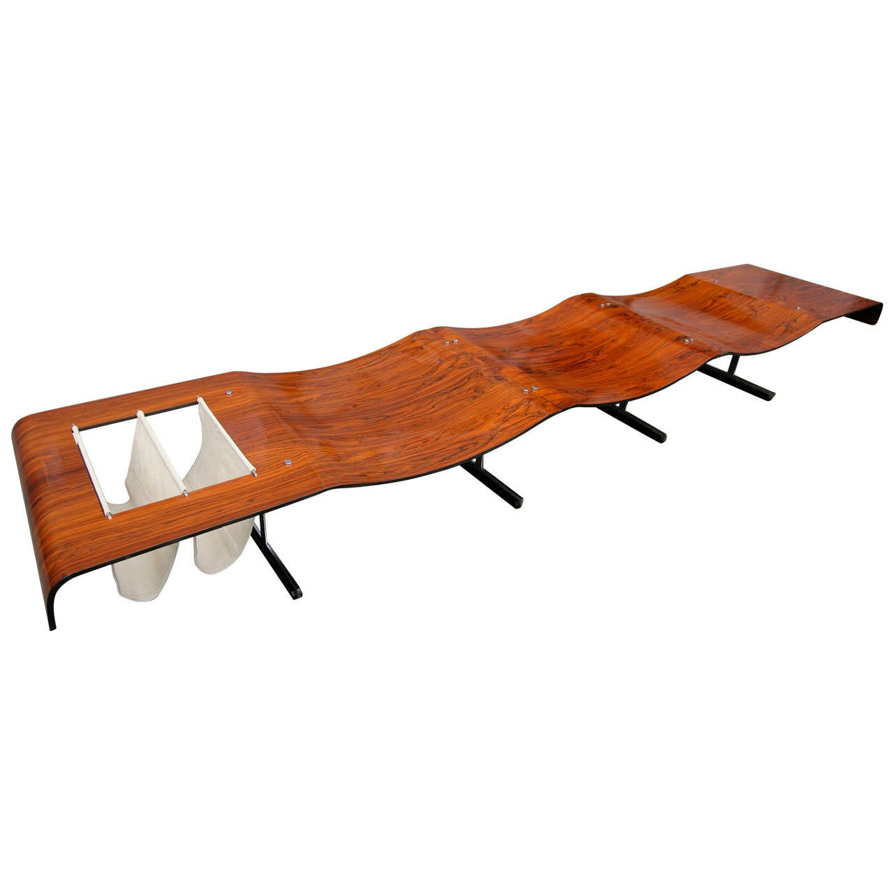 1960s Onda Bench by Jorge Zalszupin For Sale
