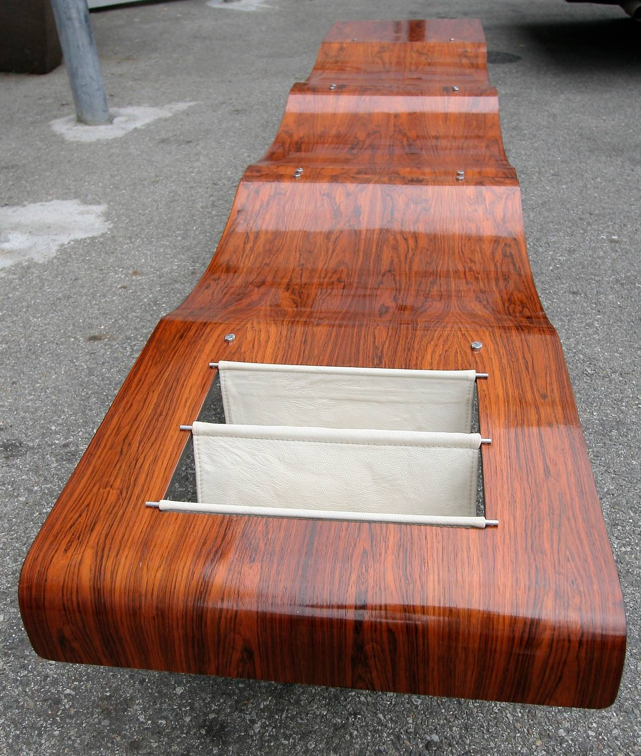 1960s Onda Bench by Jorge Zalszupin In Excellent Condition For Sale In Los Angeles, CA