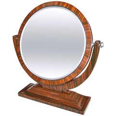 Macassar Ebony 1950s Tilting Vanity Mirror