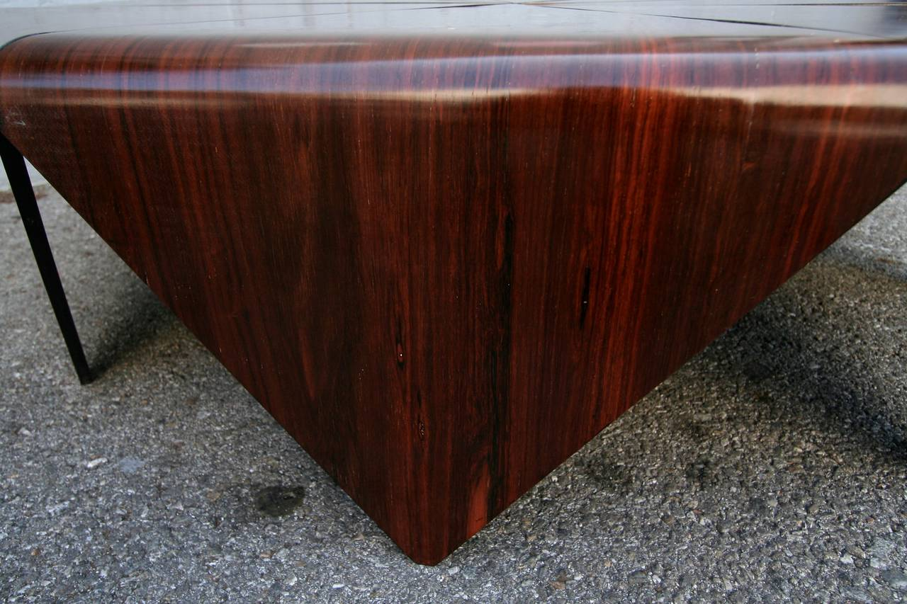 Petalas 1960s Coffee Table by Jorge Zalszupin in Brazilian Jacaranda 5