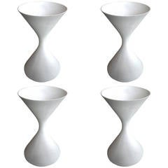 Four 1970s Diabolo Planters by Willy Guhl for Eternit