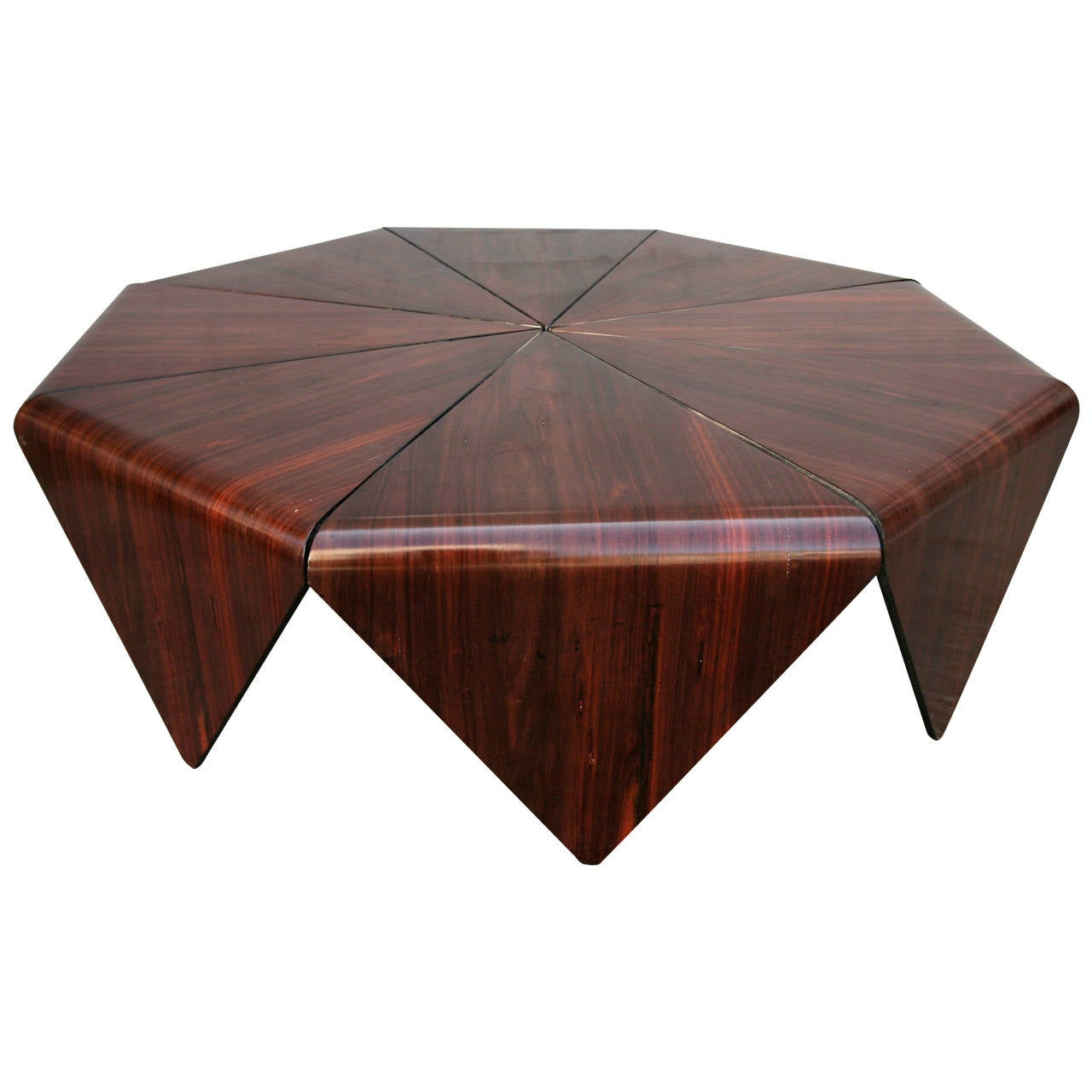 Petalas 1960s Coffee Table by Jorge Zalszupin in Brazilian Jacaranda 1