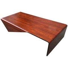 Jorge Zalszupin Andorinha 1960s Brazilian Jacaranda Coffee Table