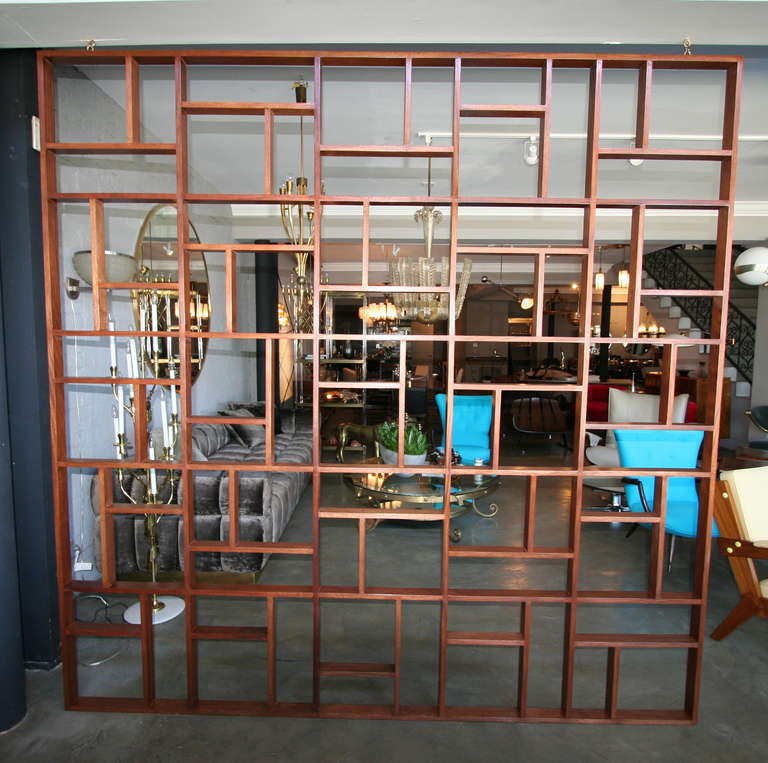 Mid Century Room Divider >> Custom Midcentury Style Geometric Room Divider For Sale At 1stdibs