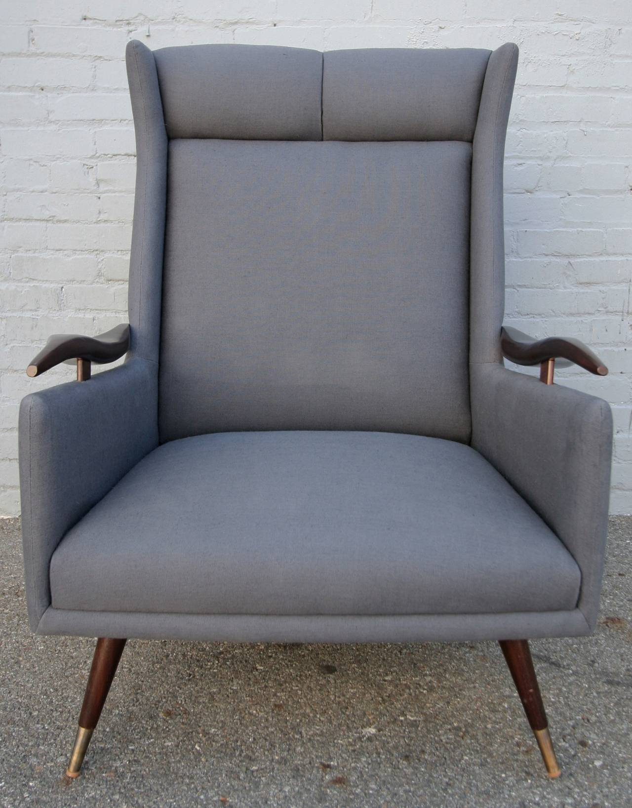 Brass Pair of 1950s Brazilian Lounge / Armchairs Chairs For Sale