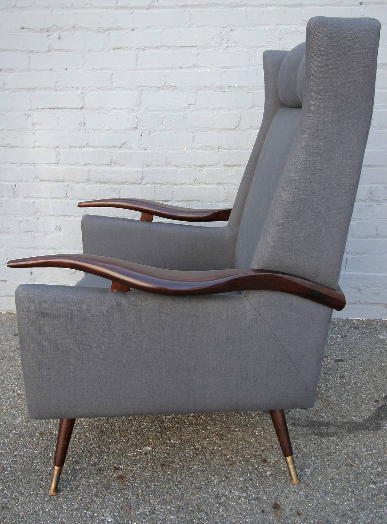 Pair of 1950s Brazilian Lounge / Armchairs Chairs In Excellent Condition For Sale In Los Angeles, CA