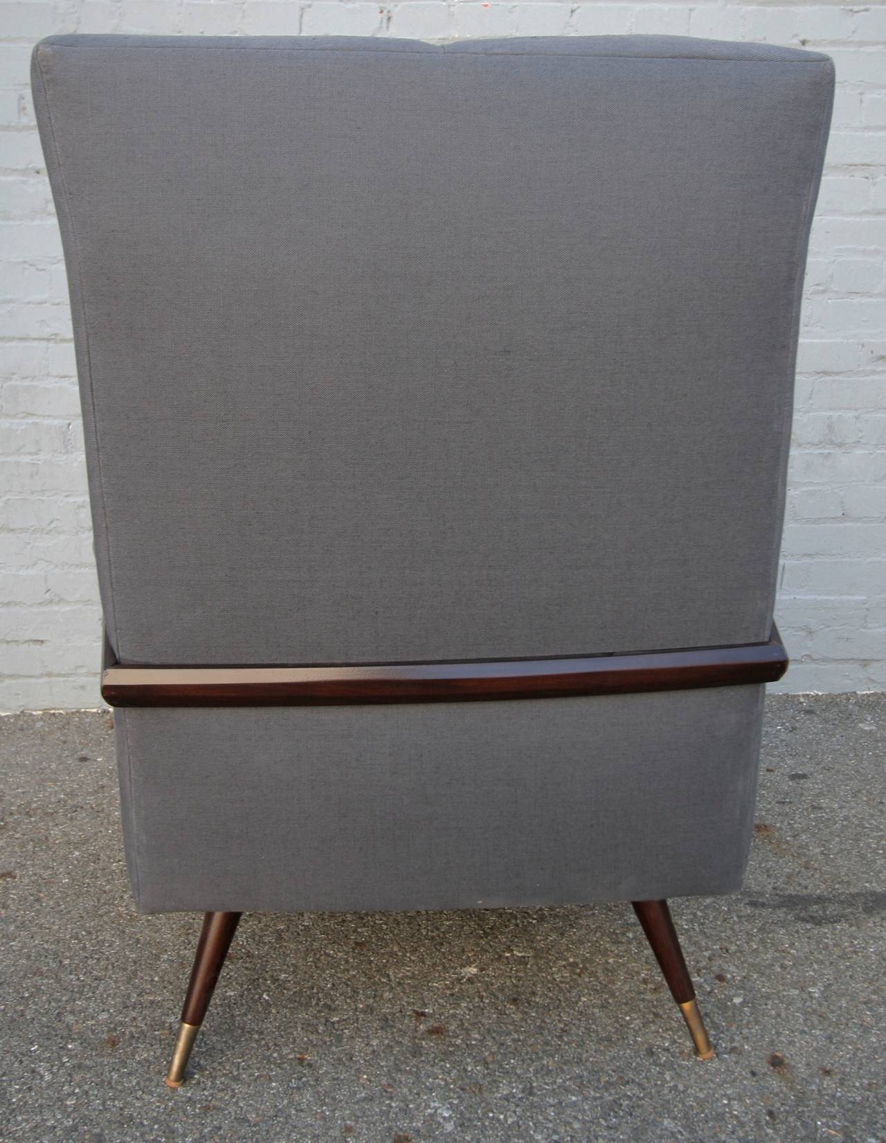 Mid-Century Modern Pair of 1950s Brazilian Lounge / Armchairs Chairs For Sale