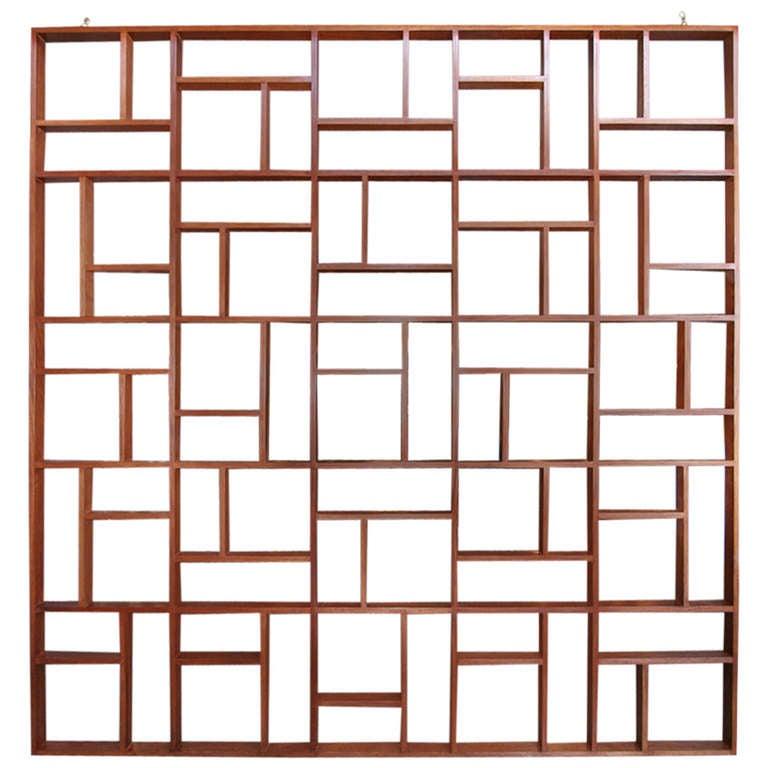 Custom Midcentury Style Geometric Room Divider