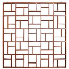 Custom Midcentury Geometric Room Divider