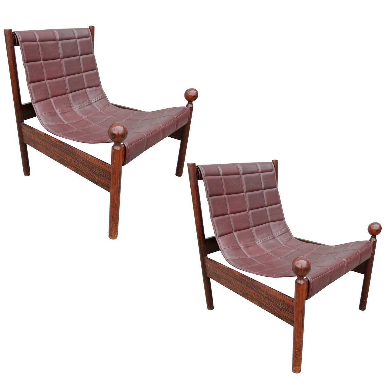 Pair of Zalszupin 1950s Brazilian Jacaranda Ouro Preto Chairs 1