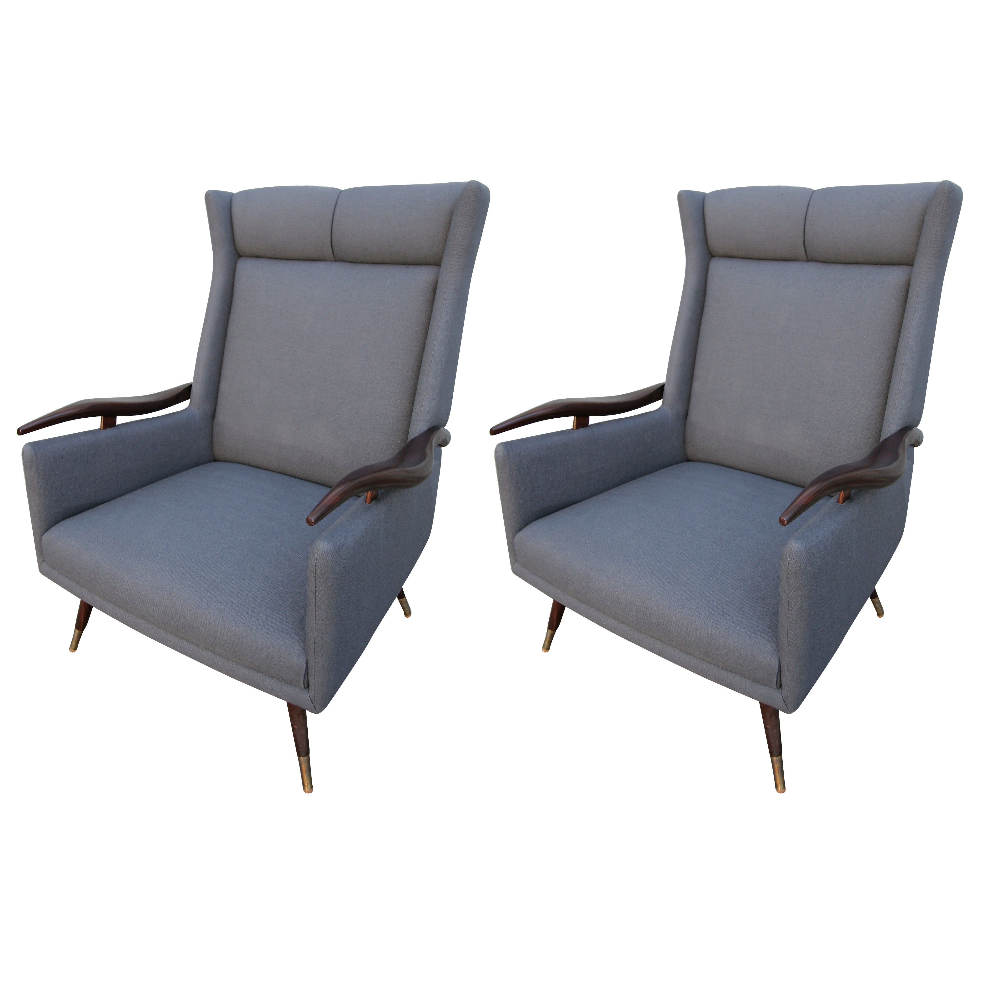 Pair of 1950s Brazilian Lounge / Armchairs Chairs