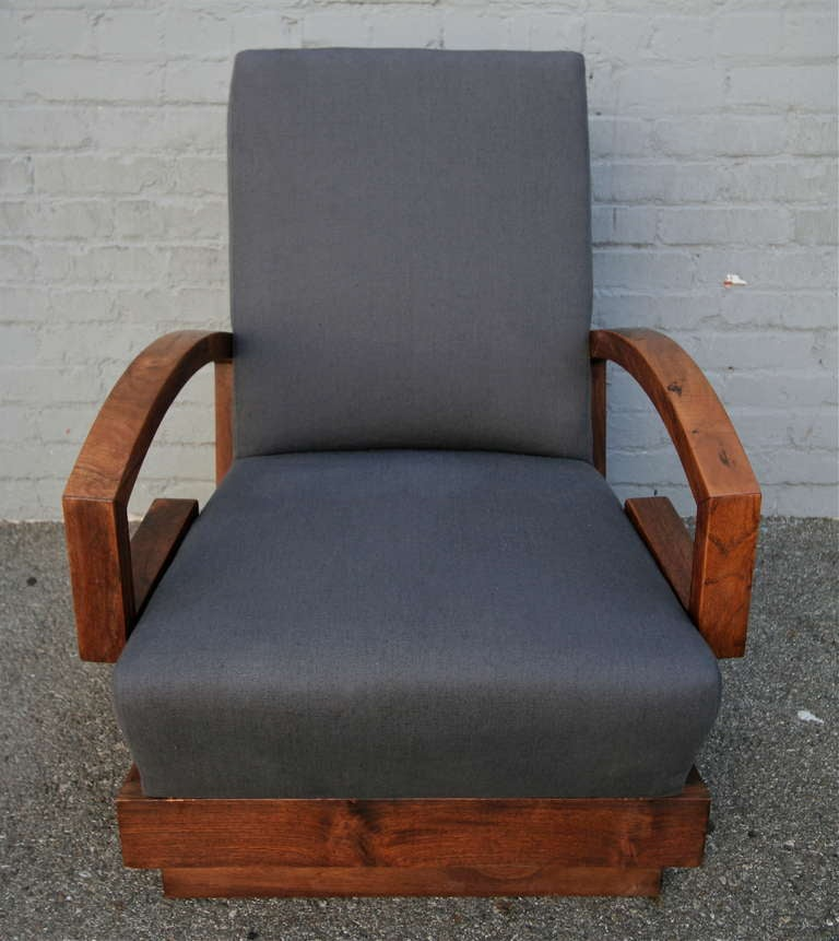 Pair of 1950s Art Deco Armchairs In Good Condition For Sale In Los Angeles, CA