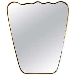 Italian Wavy Brass Mirror