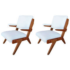 Pair of Chairs by Lina Bo Bardi