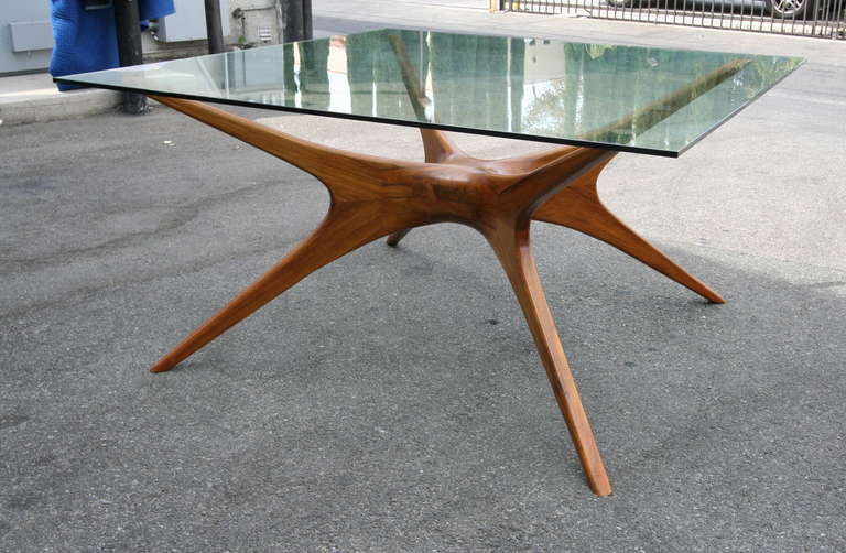 1970s Argentinian Dining Table With Spider Leg In Petiribi Wood 2