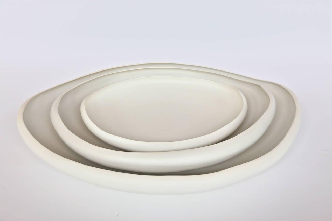 Italian handmade ceramic tray in white by Rina Menardi.  Mini $300. (depth 14.25