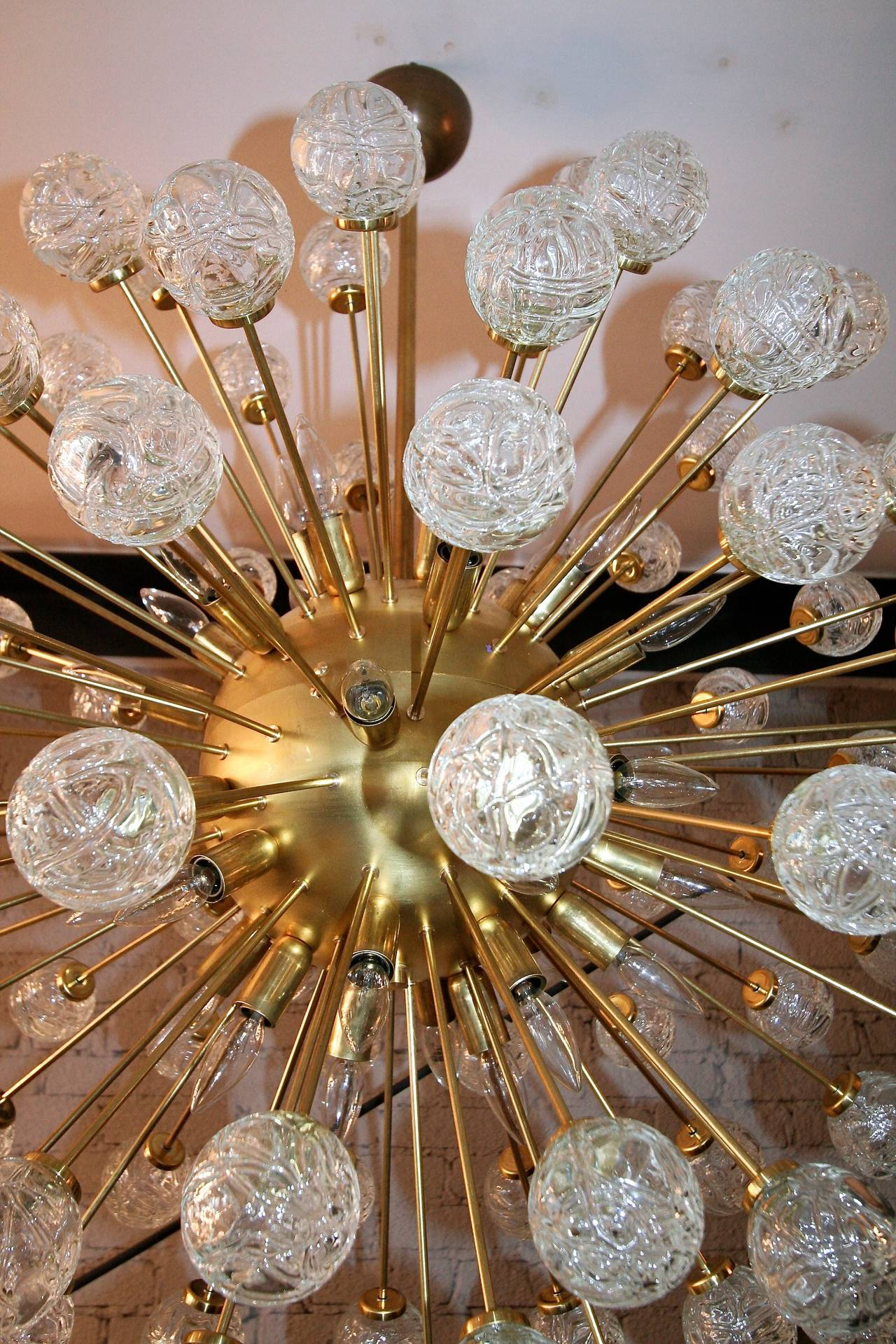 Italian Rose Sputnik Chandelier, 1980s For Sale