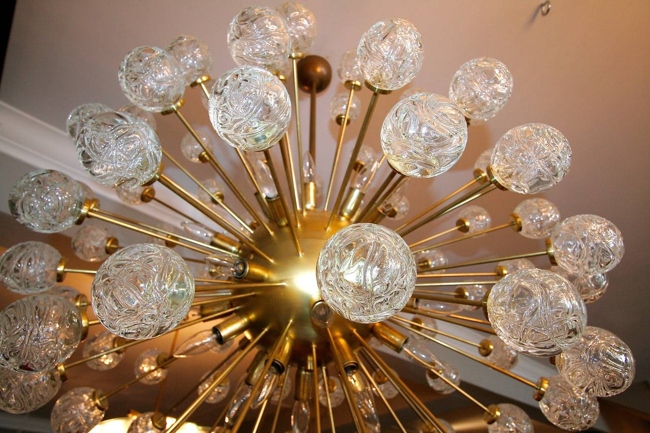 Late 20th Century Rose Sputnik Chandelier, 1980s For Sale