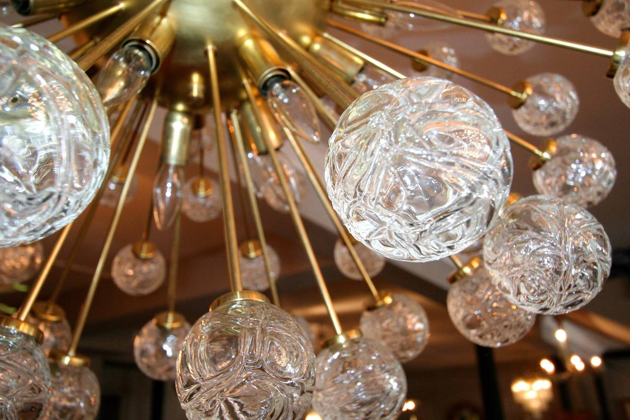 Brass Rose Sputnik Chandelier, 1980s For Sale
