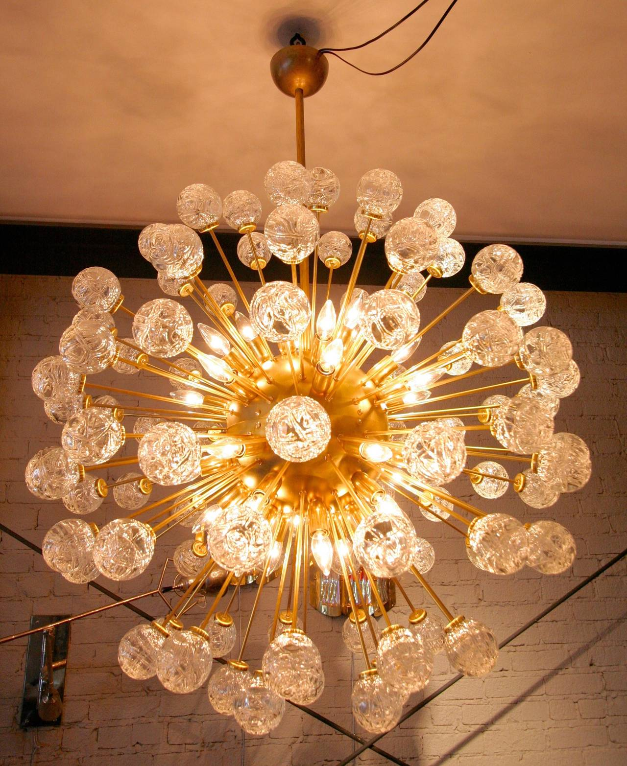 Rose Sputnik Chandelier, 1980s For Sale 1