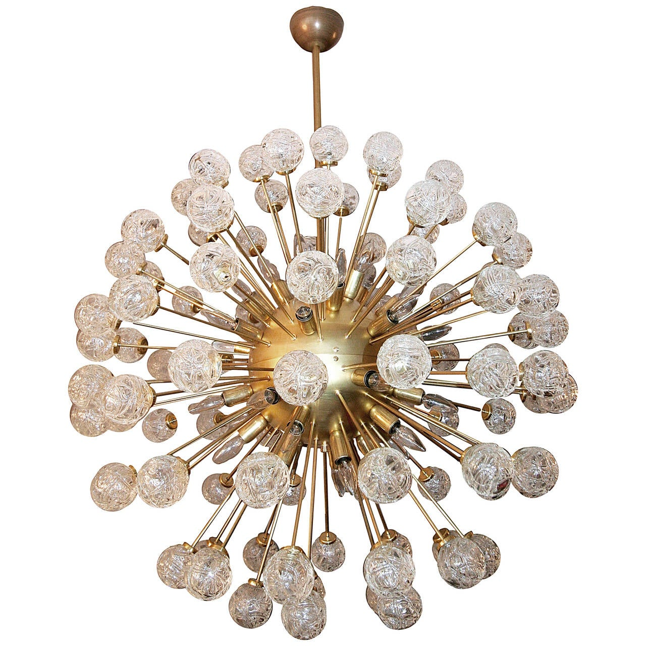 Rose Sputnik Chandelier, 1980s For Sale