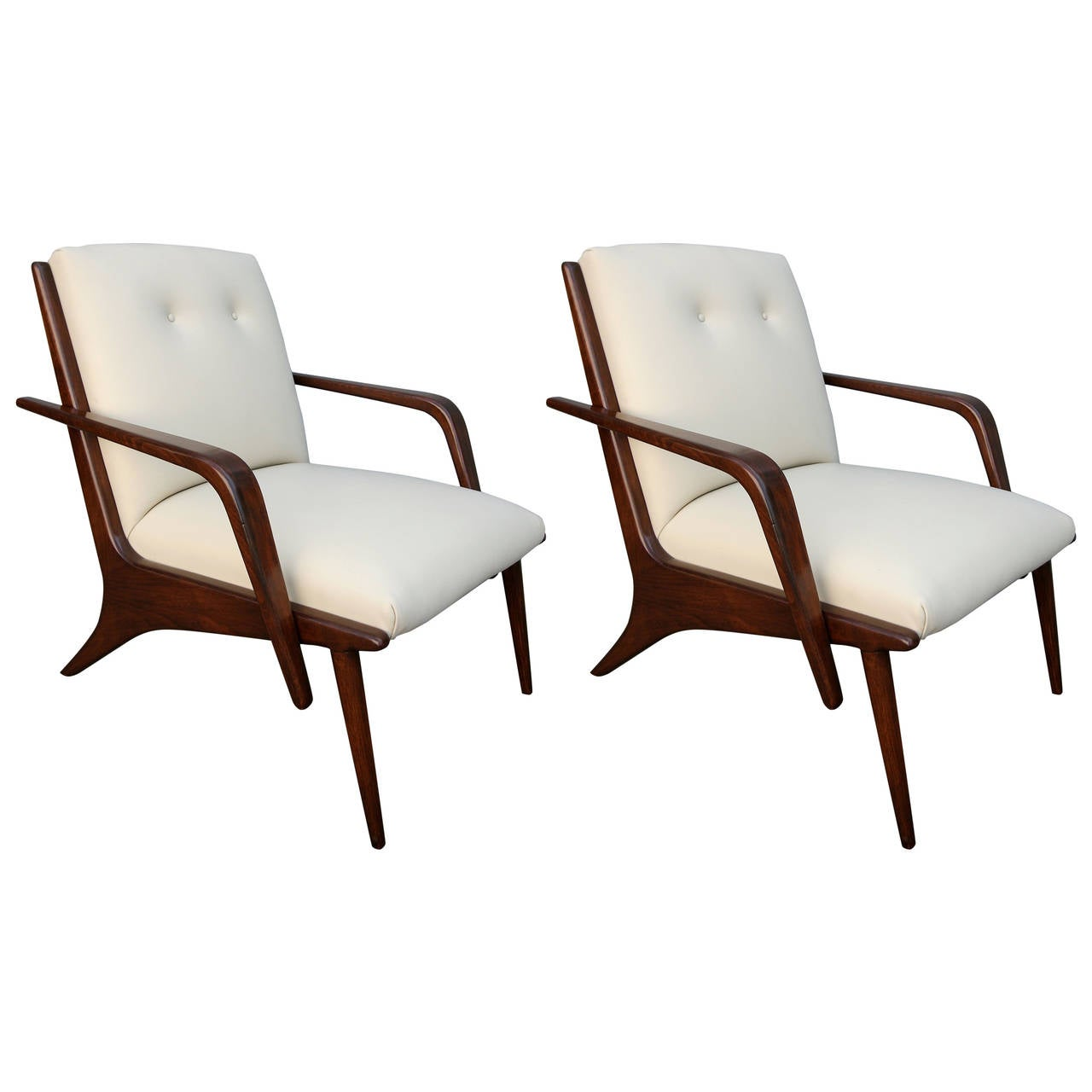 Pair of 1960s Scapinelli Brazilian Armchairs For Sale