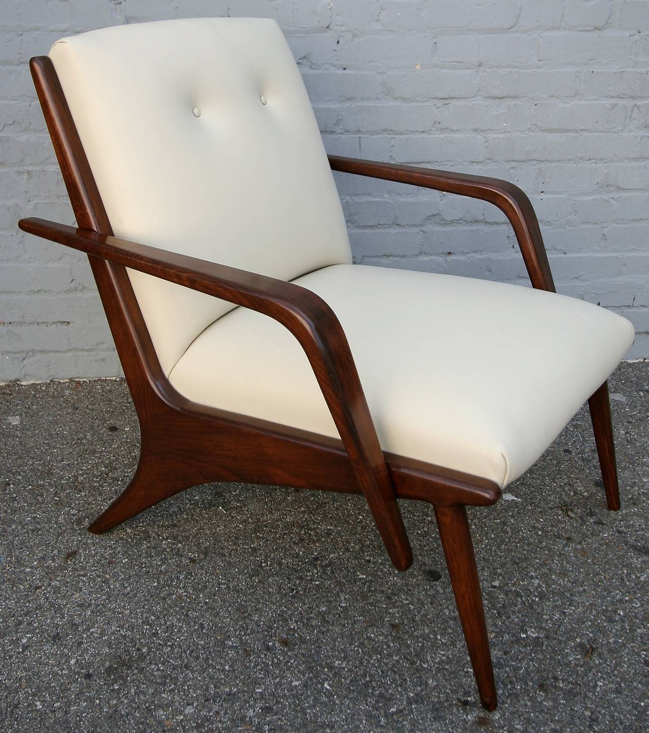 Pair of 1960s Scapinelli Brazilian Armchairs In Good Condition For Sale In Los Angeles, CA