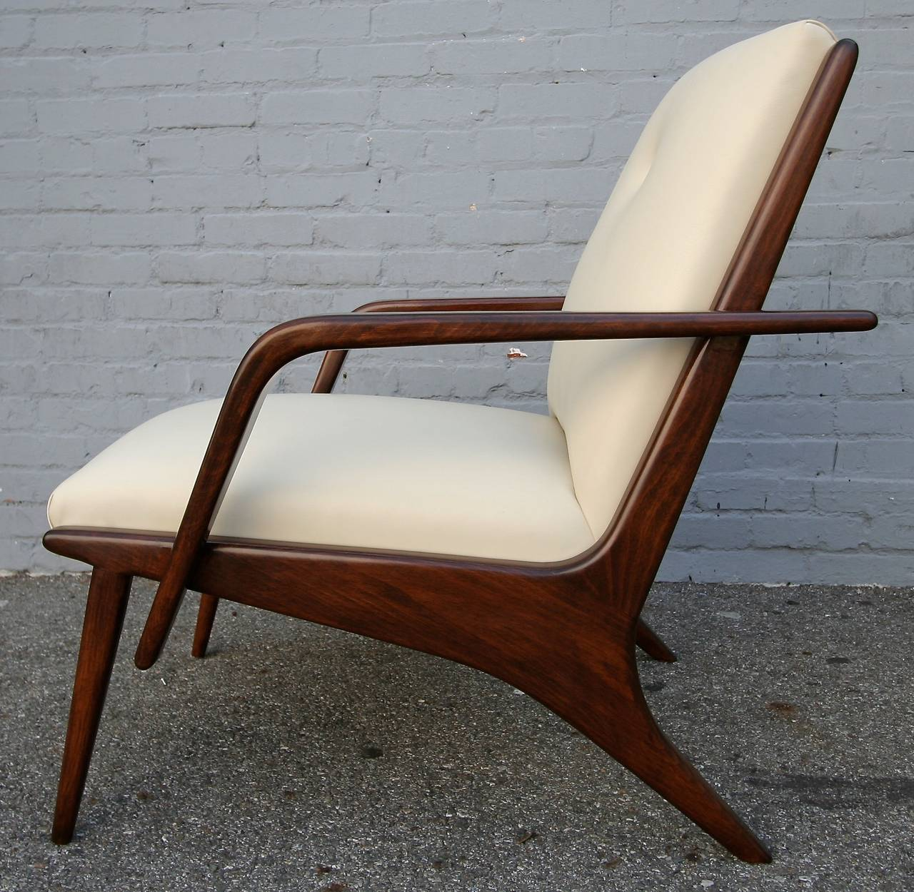 Mid-Century Modern Pair of 1960s Scapinelli Brazilian Armchairs For Sale