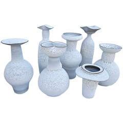 Set of Ceramic Vases by Jeremy Briddell