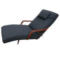 Scapinelli 1960s Brazilian Rosewood Chaise Longue