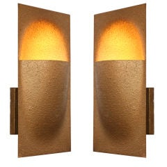 "Pair of 1970s Bertrand Balas for RAAK Metal ""Balance"" Sconces"