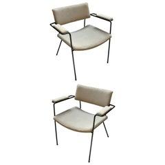 Pair of 1960s Italian Iron Armchairs