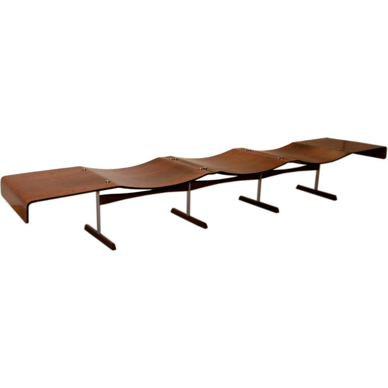 60 39 S Zalszupin Jacaranda Three Seat Bench At 1stdibs