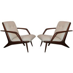 Pair of 1960s Scapinelli Armchairs