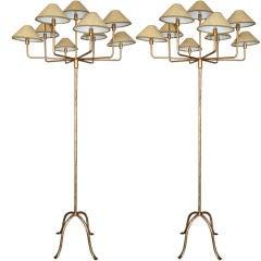 Pair of 70's Italian Floor Lamps