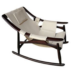 1960s Liceu de Arte Brazilian Jacaranda Rocking Chair