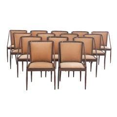 Set of 14 Jacaranda Chairs by Joaquim Tenreiro