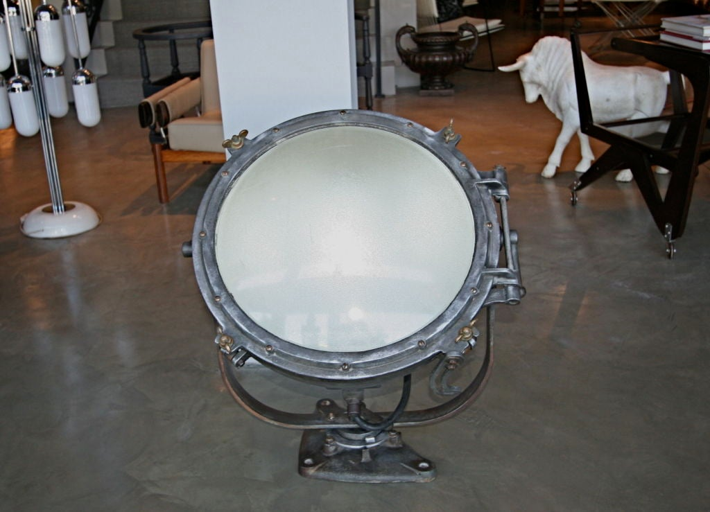Industrial Pair of 1920s Westinghouse Flood Lights For Sale