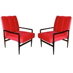 Pair of 1960s Brazilian Jacaranda Armchairs