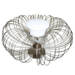 "1970s Italian Sculptural ""Metal Flower"" Table Lamp from Luminara"