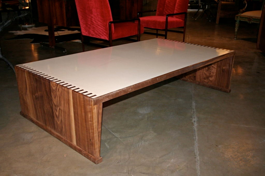 Walnut Coffee Table By Adesso Studio At 1stdibs