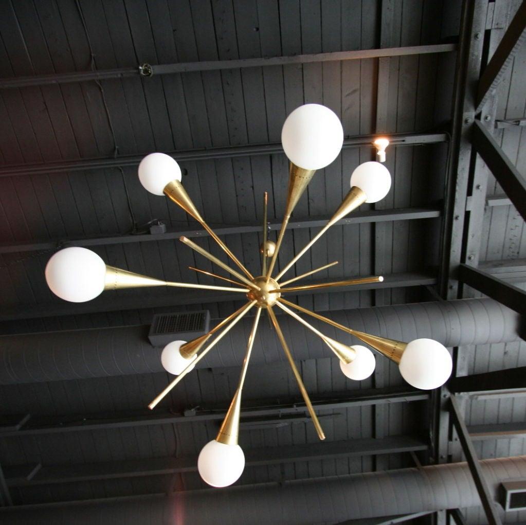 60 39 s italian sputnik chandelier at 1stdibs for Sputnik chandelier