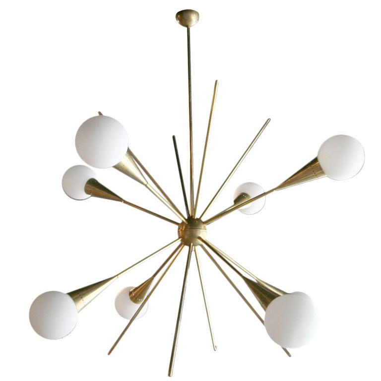 60 S Italian Sputnik Chandelier At 1stdibs