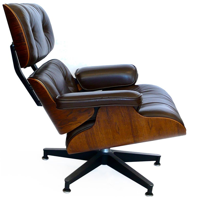 original eames 670 lounge chair 671 ottoman in chocolate brown image