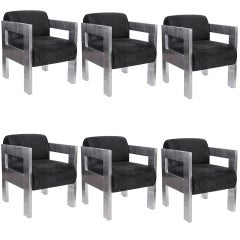 Set of 6 Arm Chairs by Paul Evans