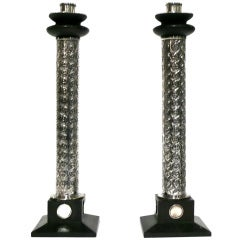 Pair of Monumental Sterling Candlesticks by William Spratling