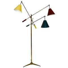 Rare Original Signed Angelo Lelli Triennale Lamp by Arredoluce