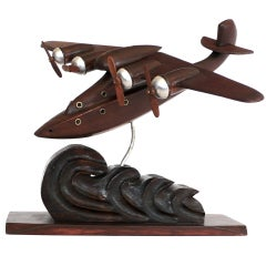 French Art Deco  Airplane Model
