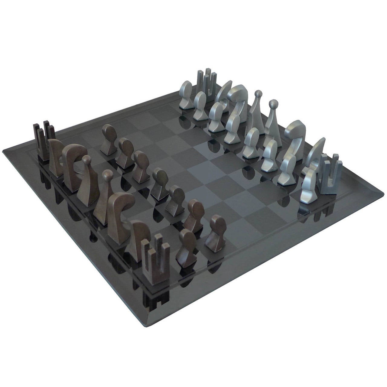 Pierre Cardin 1969 Evolution Chess Set With Glass Board